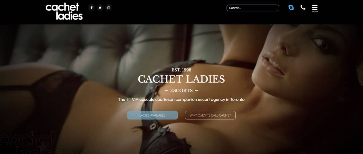 Toronto Escorts Cachet Ladies Escorts New Website