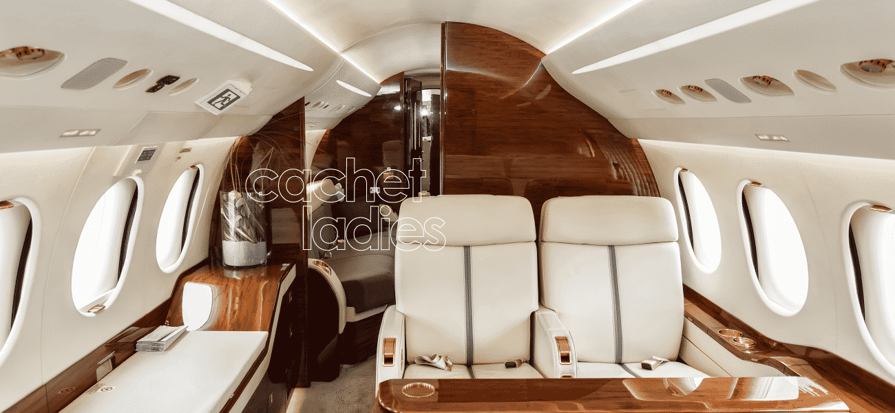 view of the interior of private jet